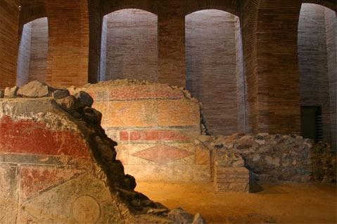 detalle cripta museo romano de merida