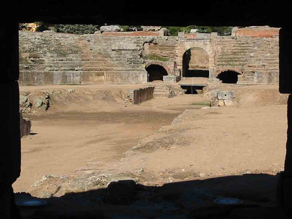 vista anfiteatro romano de merida