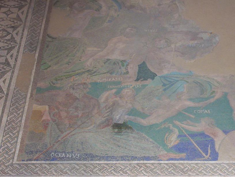 detalle mosaico Cosmogónico casa del Mitraeo en merida