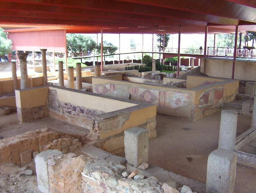 detalle casa romana del Mitraeo