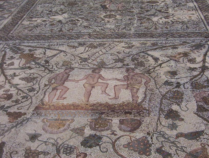 mosaico domus del anfiteatro en merida