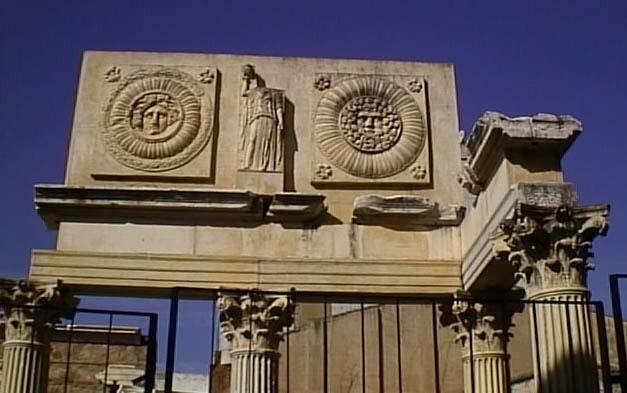 detalle portico del foro municipal de merida